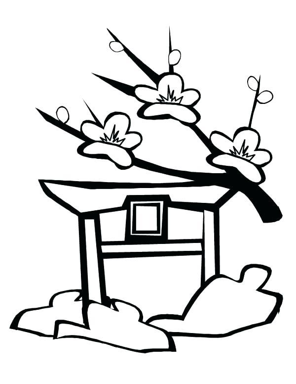 600x776 japan tree drawing at free for personal use japan japan coloring