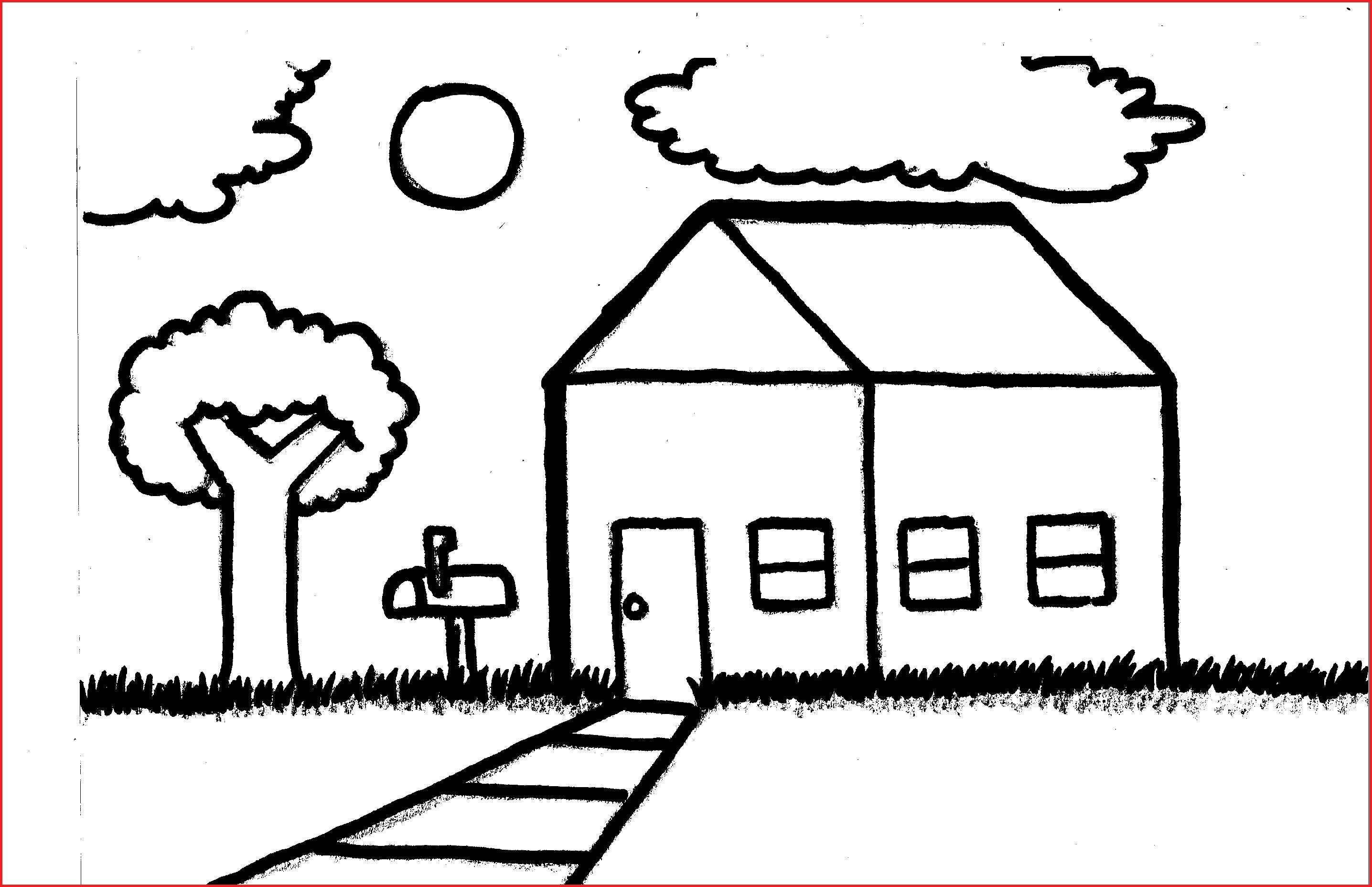 2872x1856 Long Landscape Drawing And Drawings Of A House Simple House