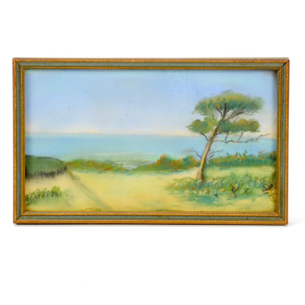 1000x1000 Pastel Landscape Drawing Ebth