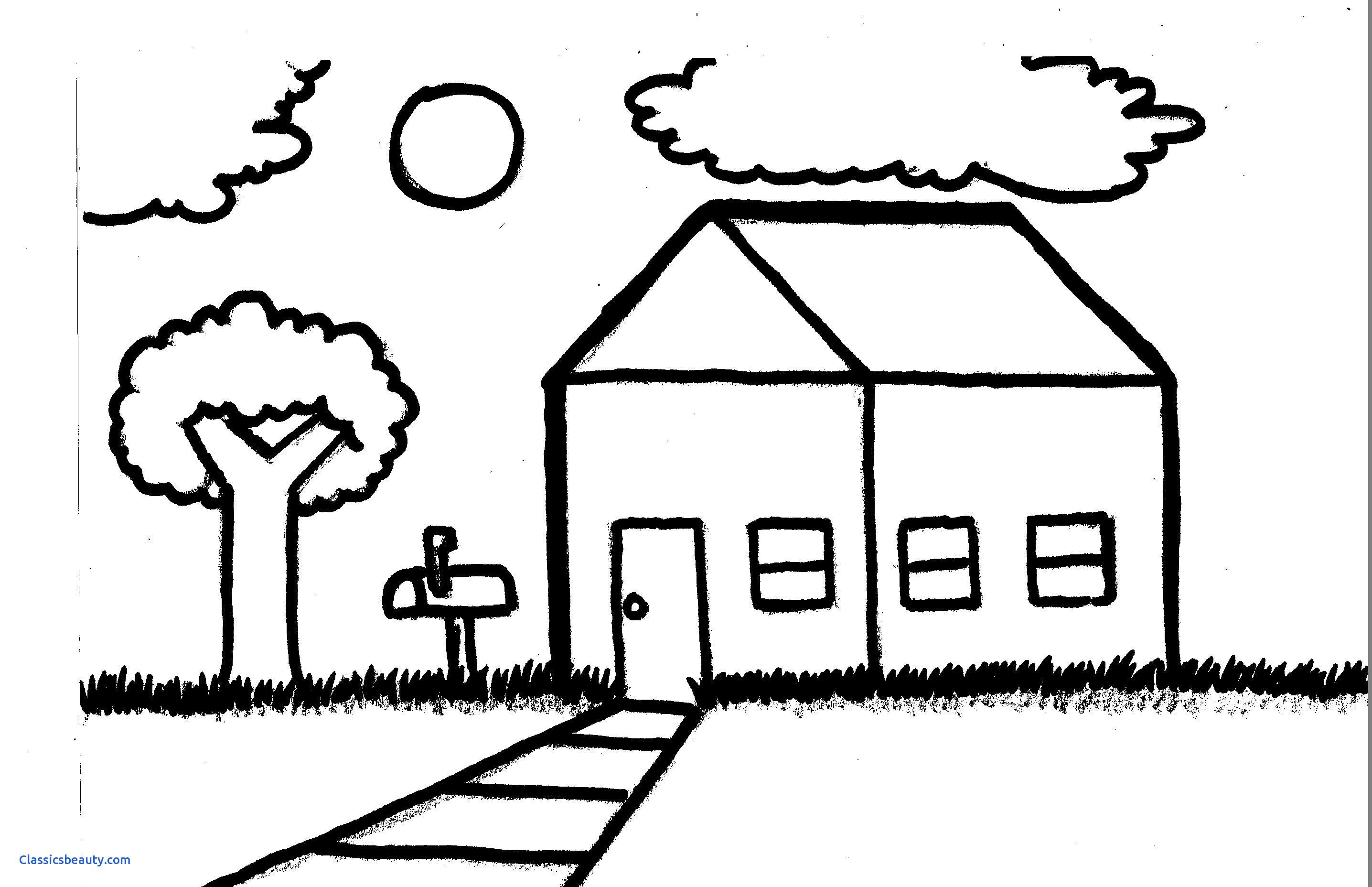 Landscape Outline Drawing