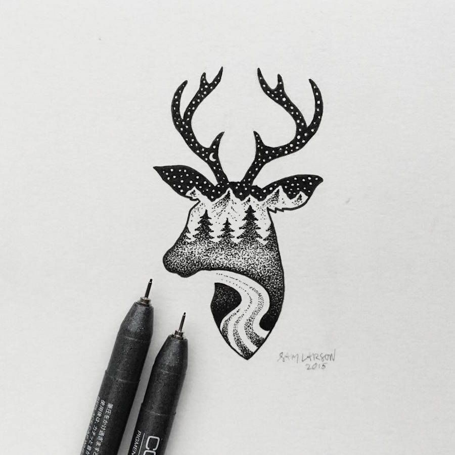 Landscape Pen Drawing