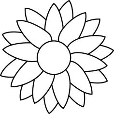236x235 Best Sunflower Stencil Images In Sunflowers, Drawings