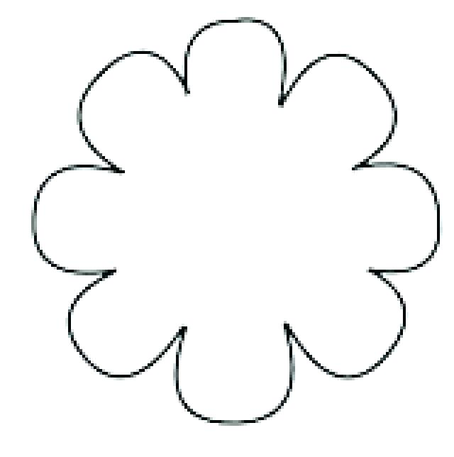 640x644 Big Flower Template Big Flower Template Unique Big Flowers Drawing
