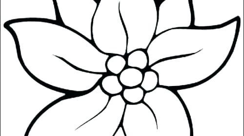 500x280 Collection Big Flower Top View Coloring Pages Pictures