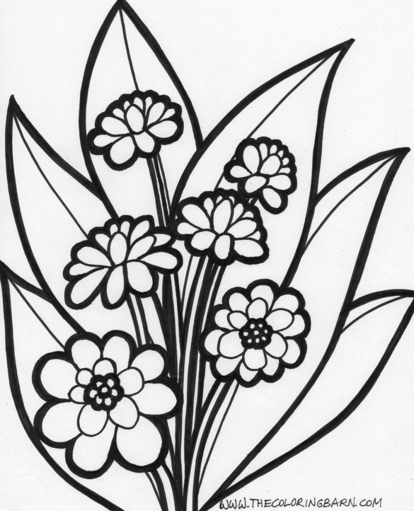 829x1024 Coloring Pages Large Printable Flower Coloring Pages Calendar