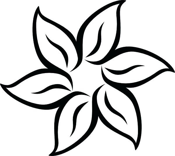 600x536 Flower Drawing Template At Free For Personal Use Printable Lotus