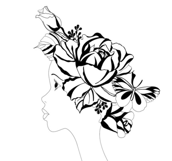 600x563 Large Flower Drawings