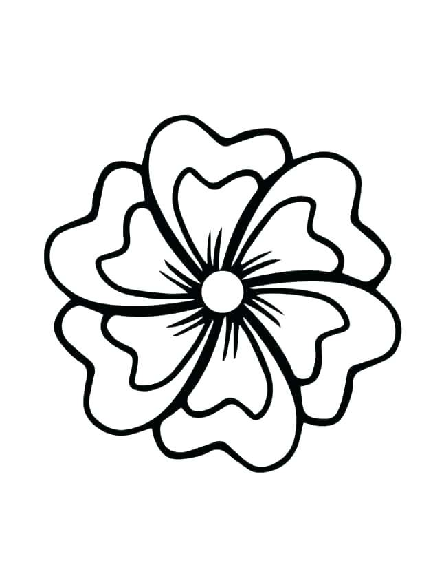 630x840 Big Flower Coloring Pages