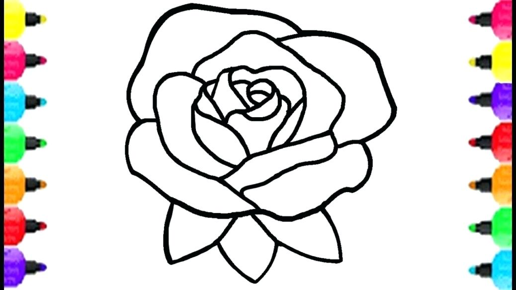 1038x584 Coloring Pages Draw A Rose Coloring Pages For Kids