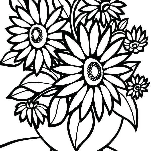 600x600 Awesome Large Coloring Flower Download Coloring Pages