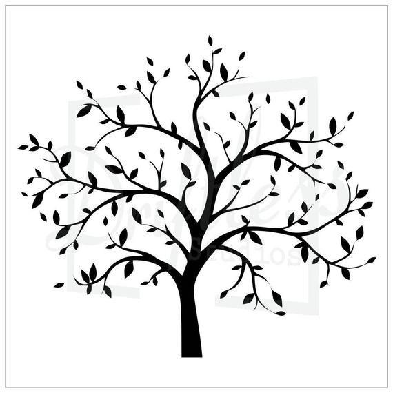 570x570 bare tree stencil family tree stencil, tree stencil, tree