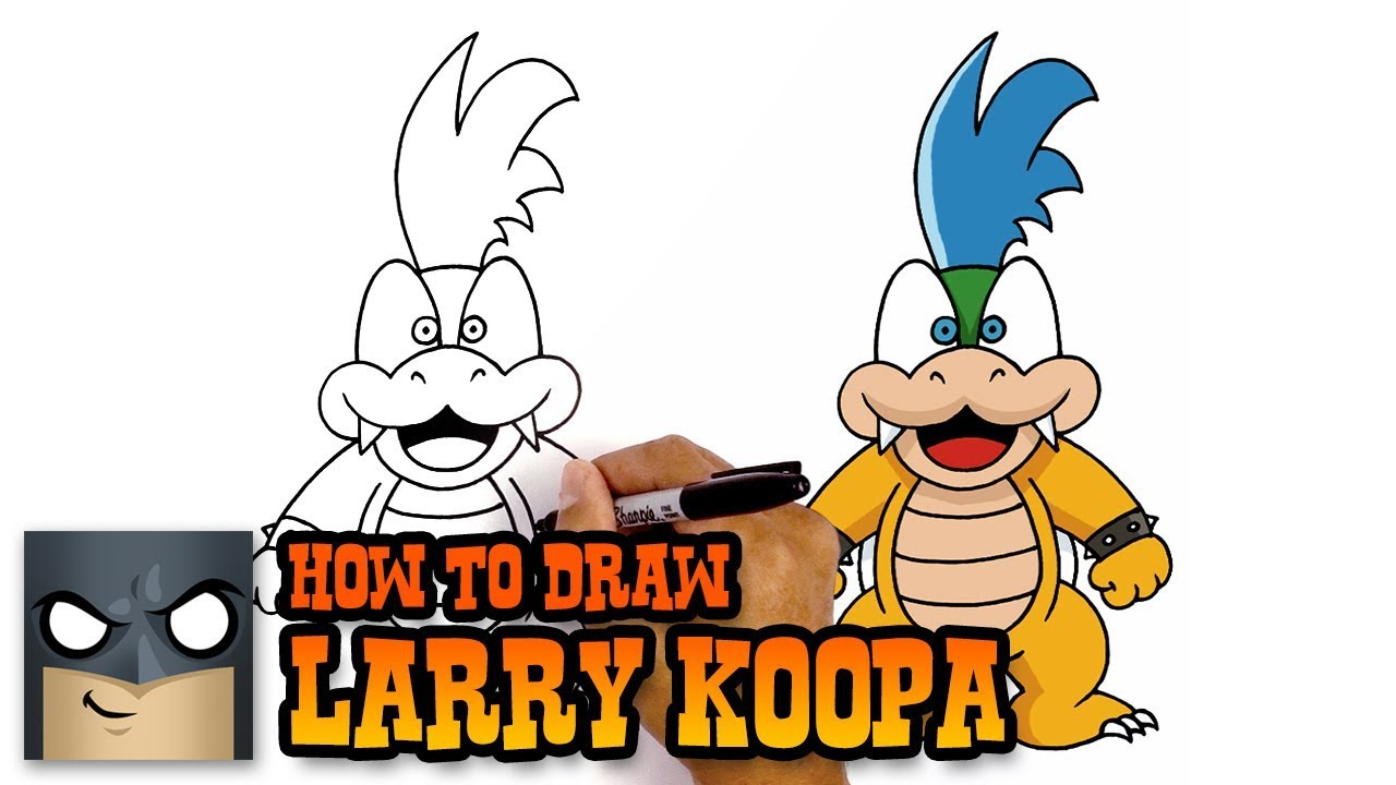 1280x720 How To Draw Mario Characters Larry Koopa
