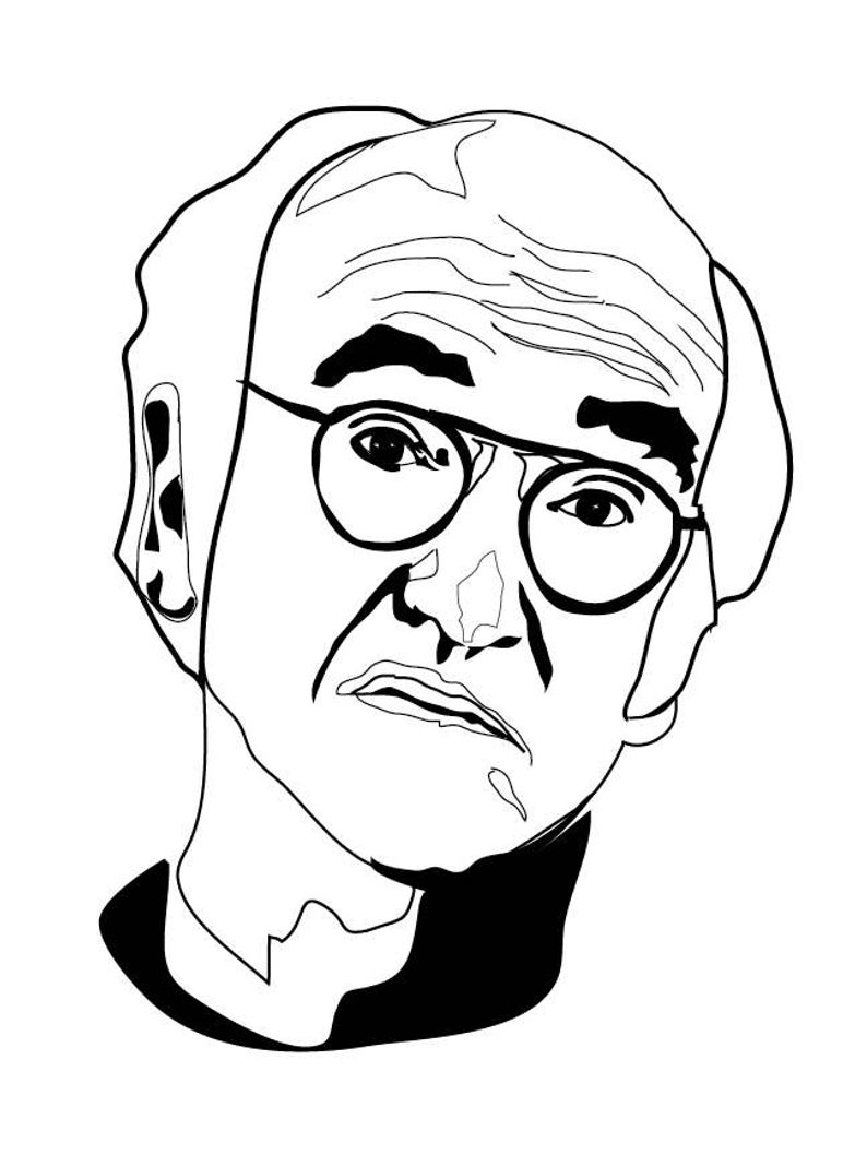 794x1058 Larry David Curb Your Enthusiasm Black And White Art Print Etsy