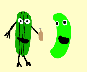 300x250 Larry The Cucumber Meets Pickle Rick
