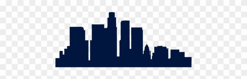 840x271 La City Skyline Silhouette At Getdrawings