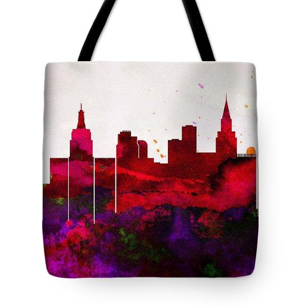 600x600 Las Vegas Skyline Tote Bags Fine Art America