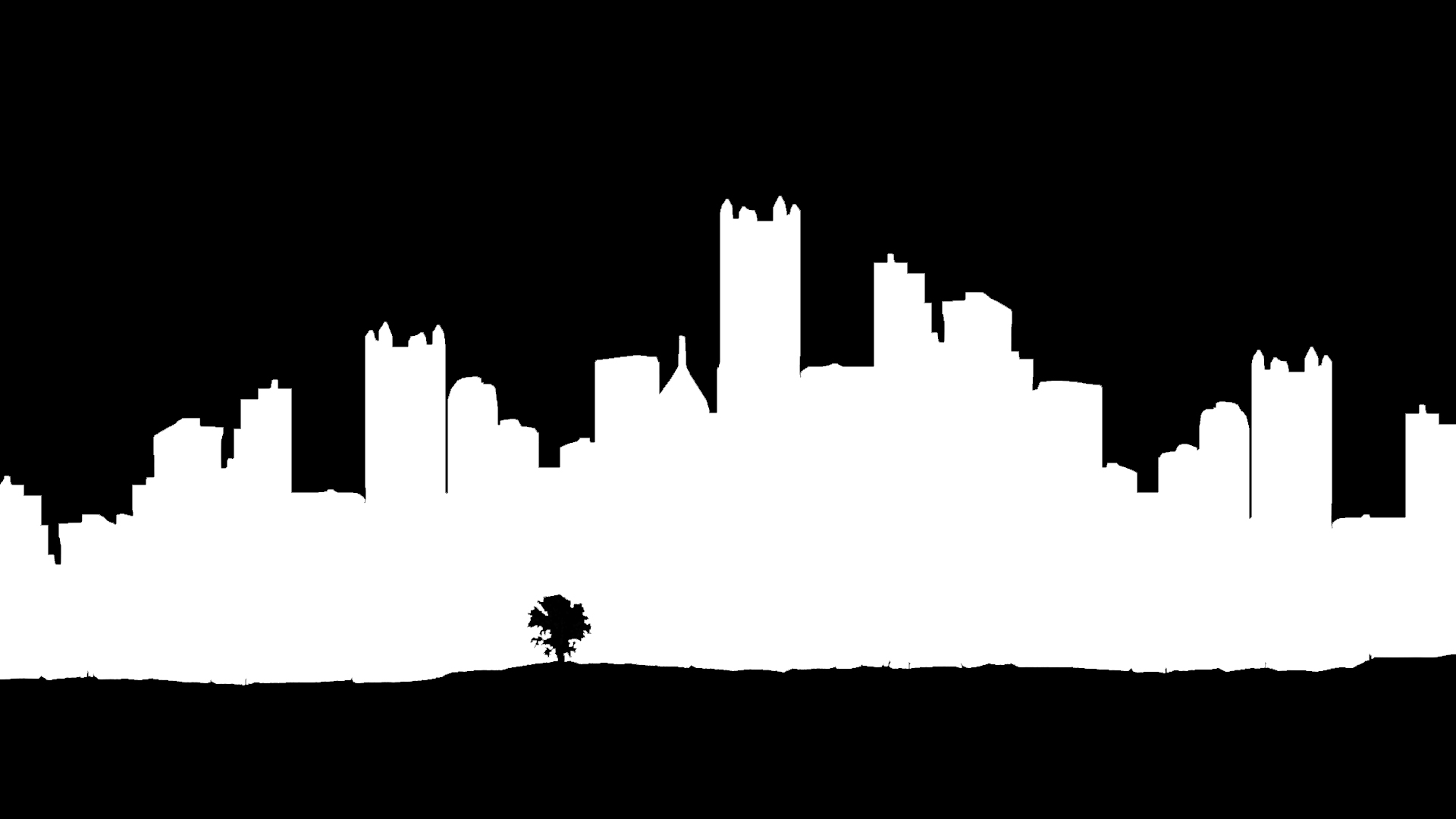 1920x1080 Skyline Silhouette Drawing