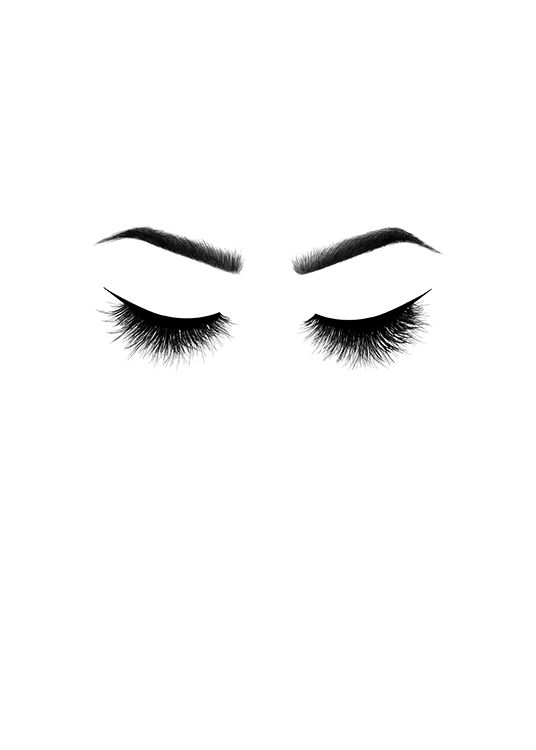 536x750 lashes, posters in the group posters prints sizes
