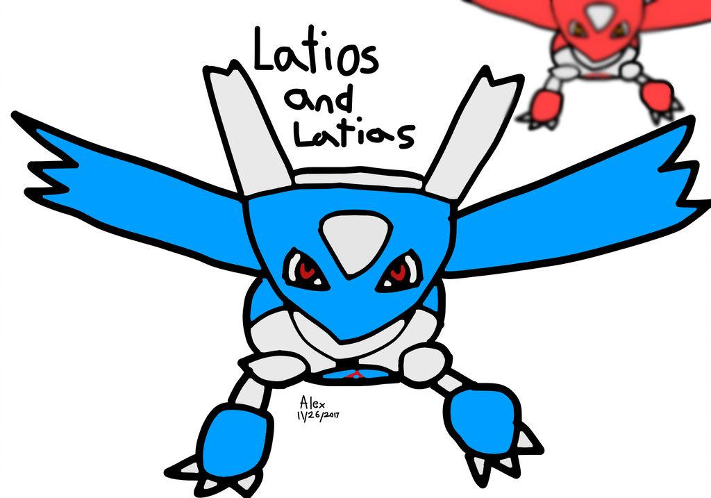1024x717 Latios And Latias Drawing Rager