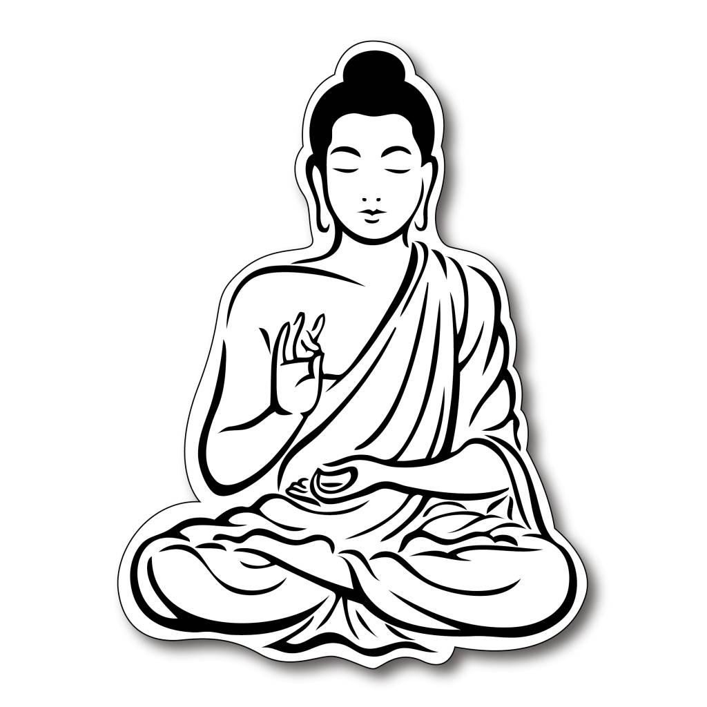 Laughing Buddha Drawing