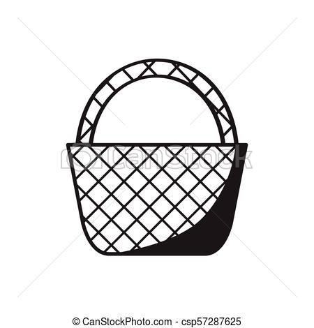 450x470 empty picnic basket sketch isolated sketch of an empty picnic