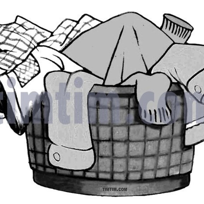 680x680 Laundry Basket Clipart Black And White Clipground, Drawing