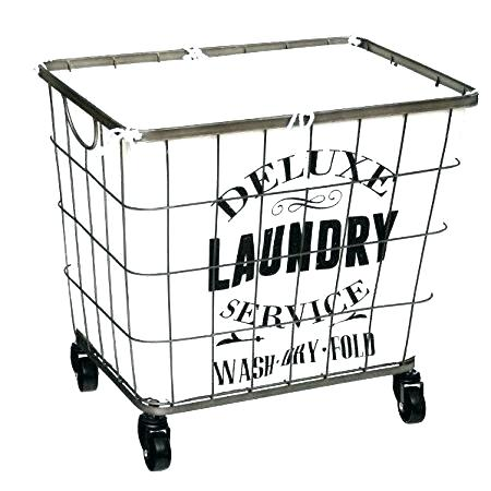 450x450 Laundry Hamper With Wheels Laundry Basket Wire Wire Laundry Hamper