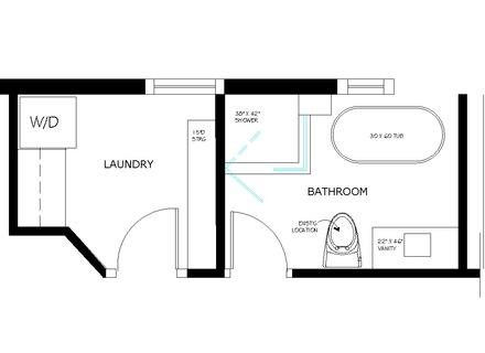 440x320 bathroom floor plan laundry room master bathroom, master