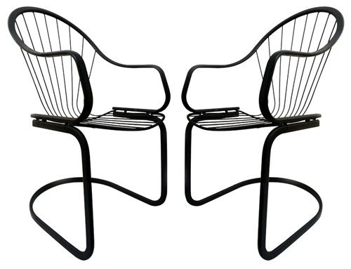 500x383 pair of art deco metal lawn chairs home deco, art