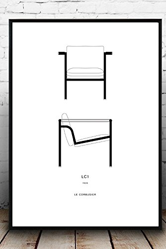 334x500 le corbusier poster poster printing chair poster gift idea