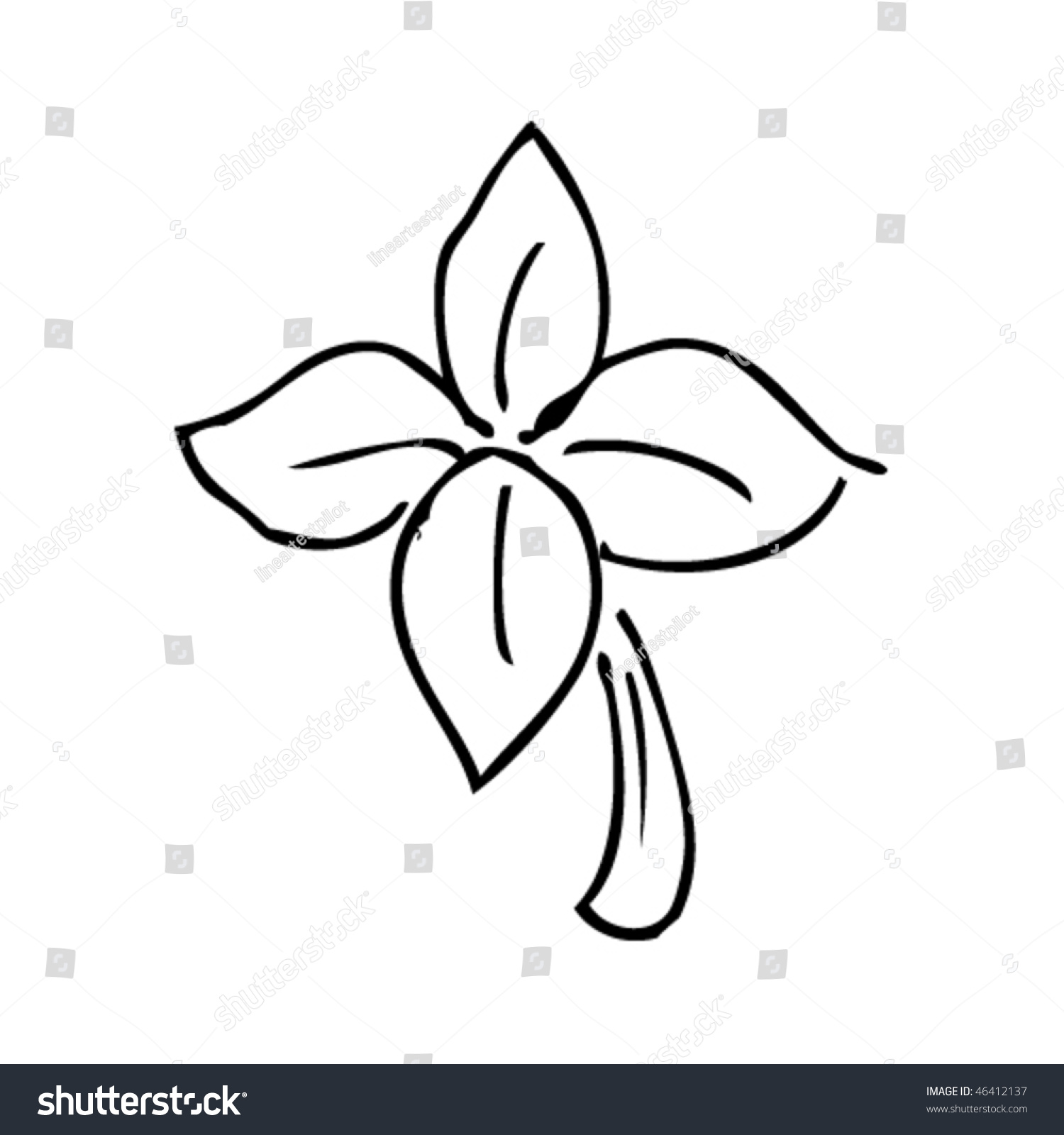 1500x1600 Leaf Clover Drawing Four Images Easy Badly Drawn Line Tumblr