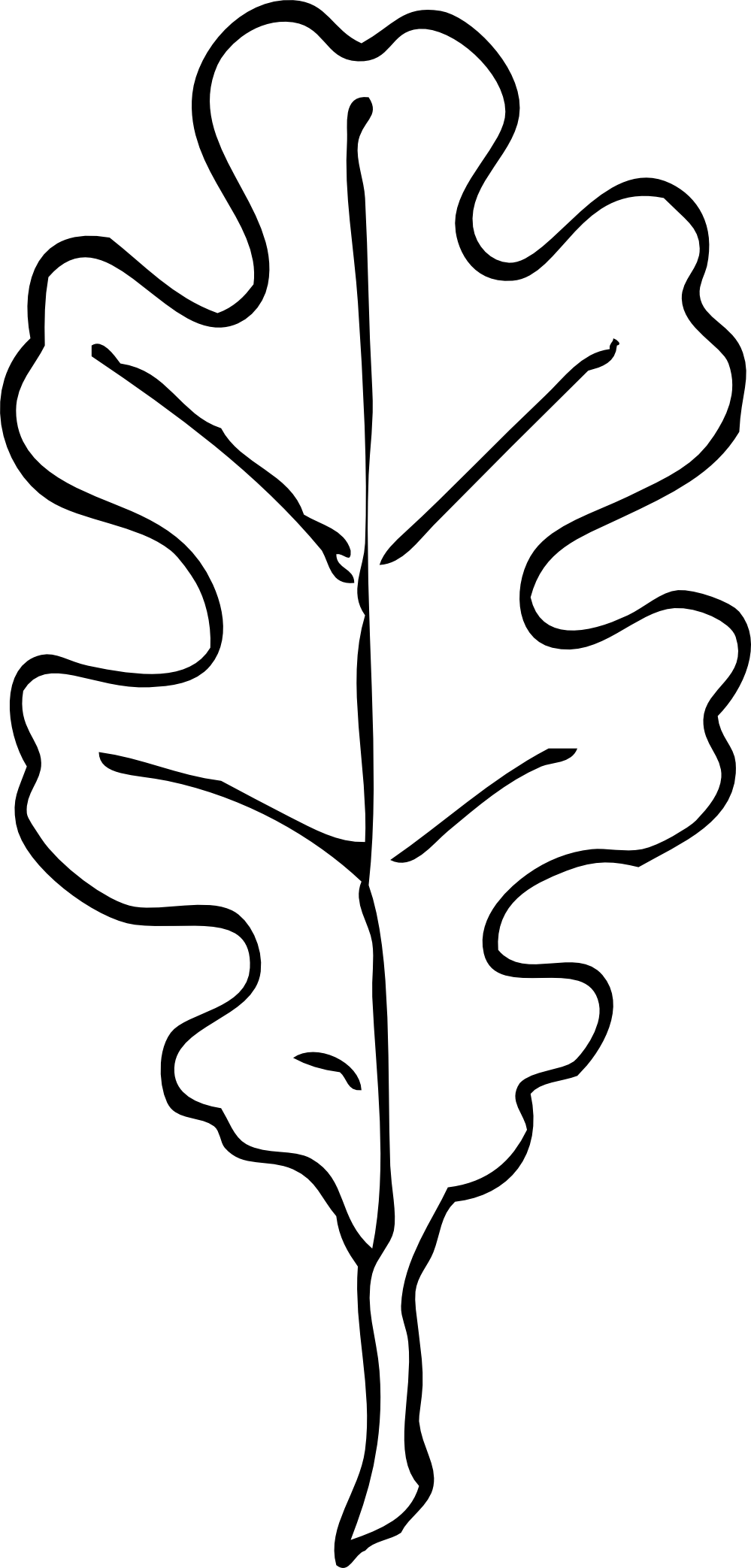 999x2086 white oak leaf outline carved stamp idea leaf drawing, leaf