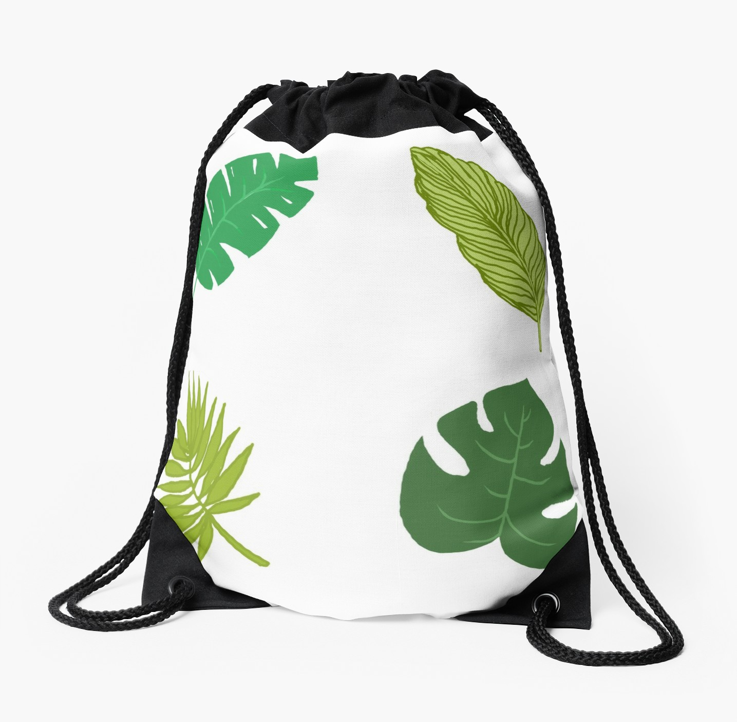 1435x1404 Tropical Leaf Tumblr Drawing Drawstring Bag
