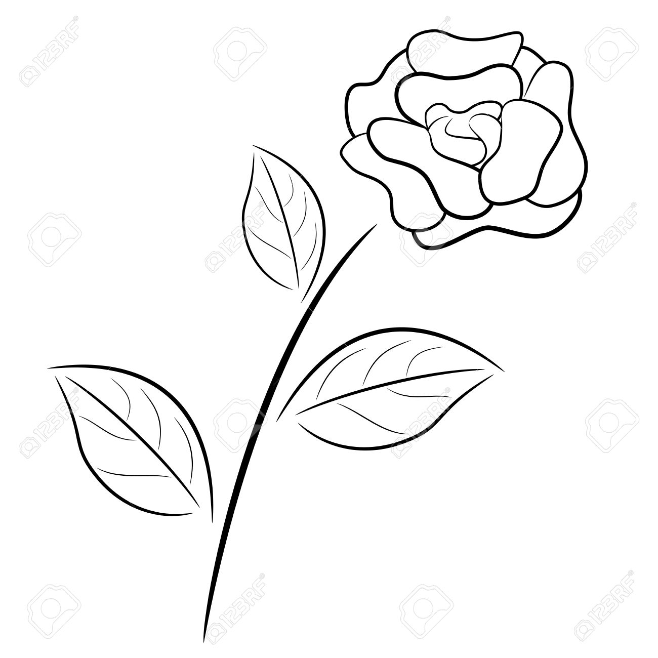 1300x1300 Black And White Drawing Of A Rose Line Tumblr Flowers Clip Art