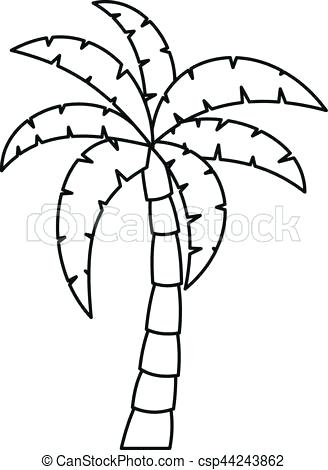 328x470 Line Drawing Palm Tree Palm Tree Coloring Palm Leaf Coloring