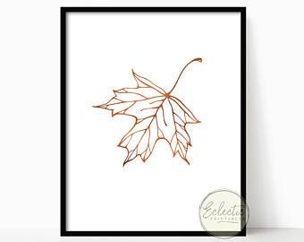 340x270 Maple Leaf Line Art Etsy