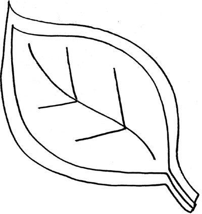 400x425 Leaf Outline Template Clipart