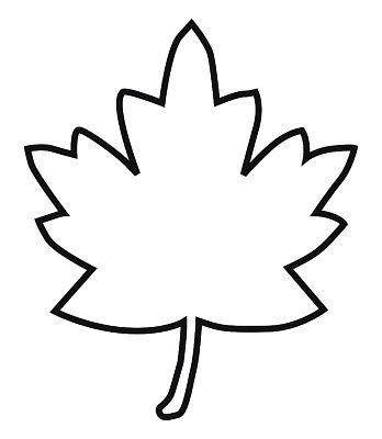 348x400 Maple Leaf Outline Clipart Arresting