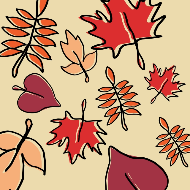 640x640 Cute Hand Drawn Autumn Pattern Seamless With Colorful Seasonal