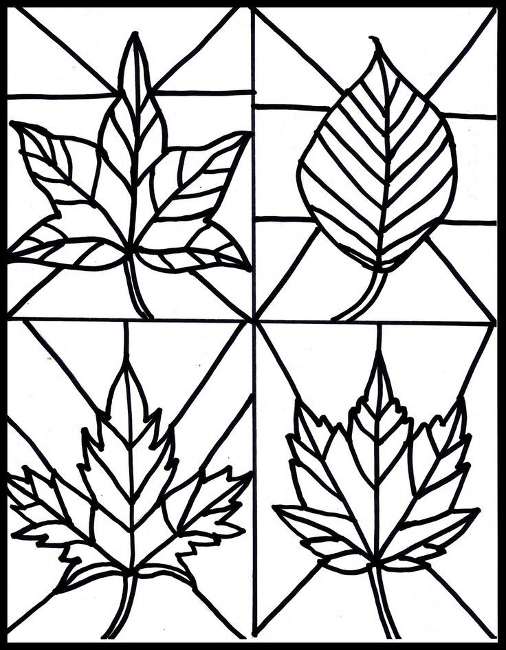 736x945 Free Fall Leaves Stained Glass Printable Clip Art