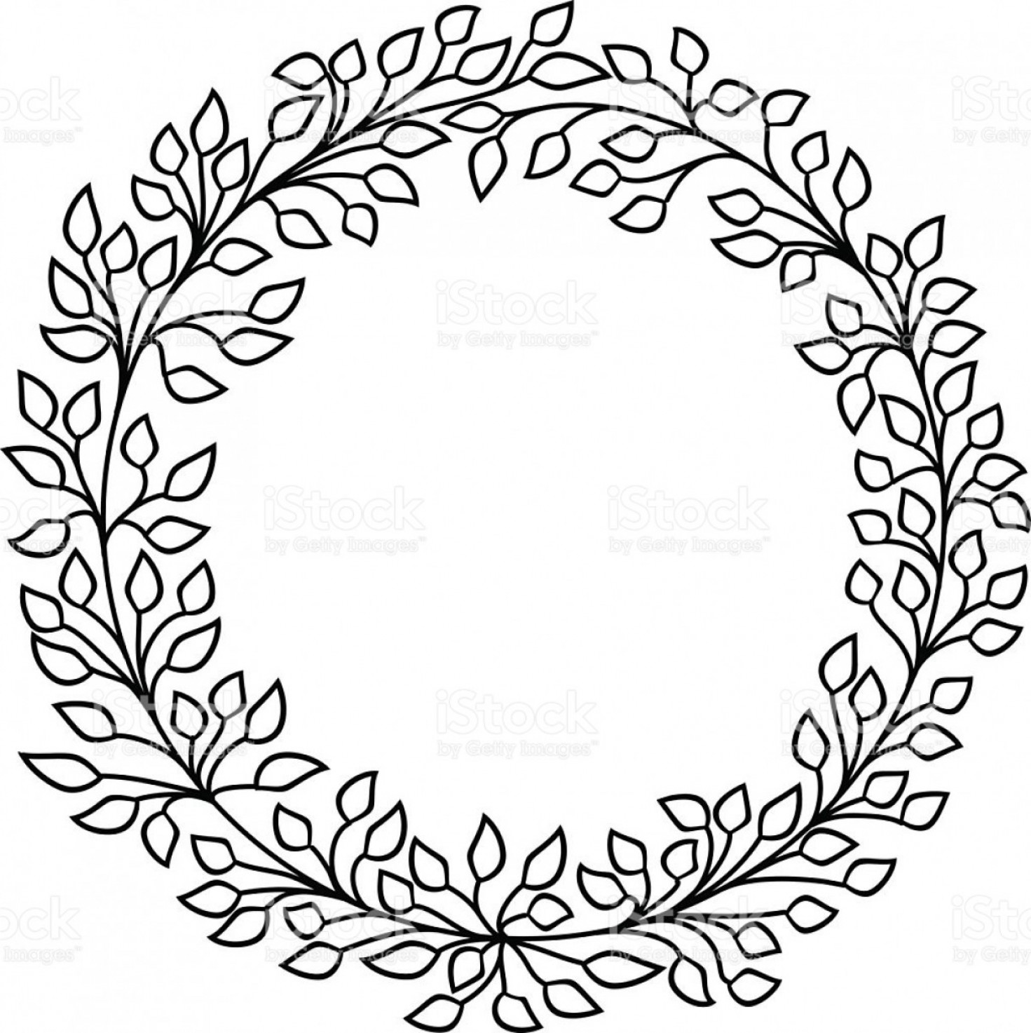 1471x1473 Half Leaf Wreath Vector Hoodamathrun