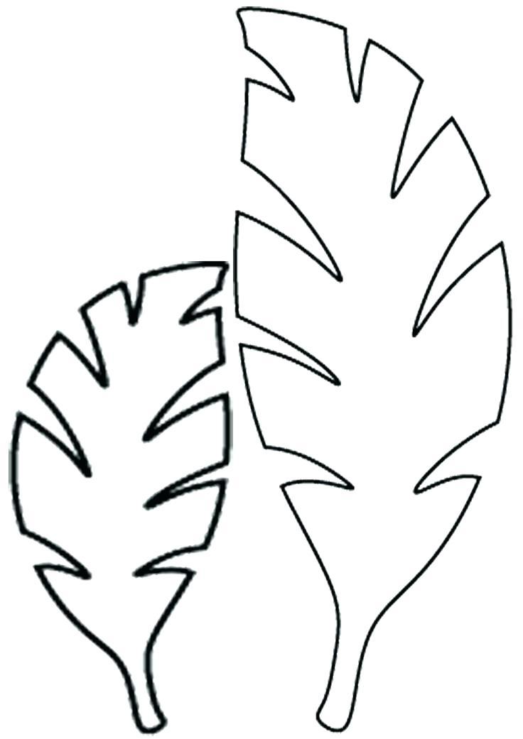 736x1041 Leaf Stencil Pattern Image Banana Brittanylee