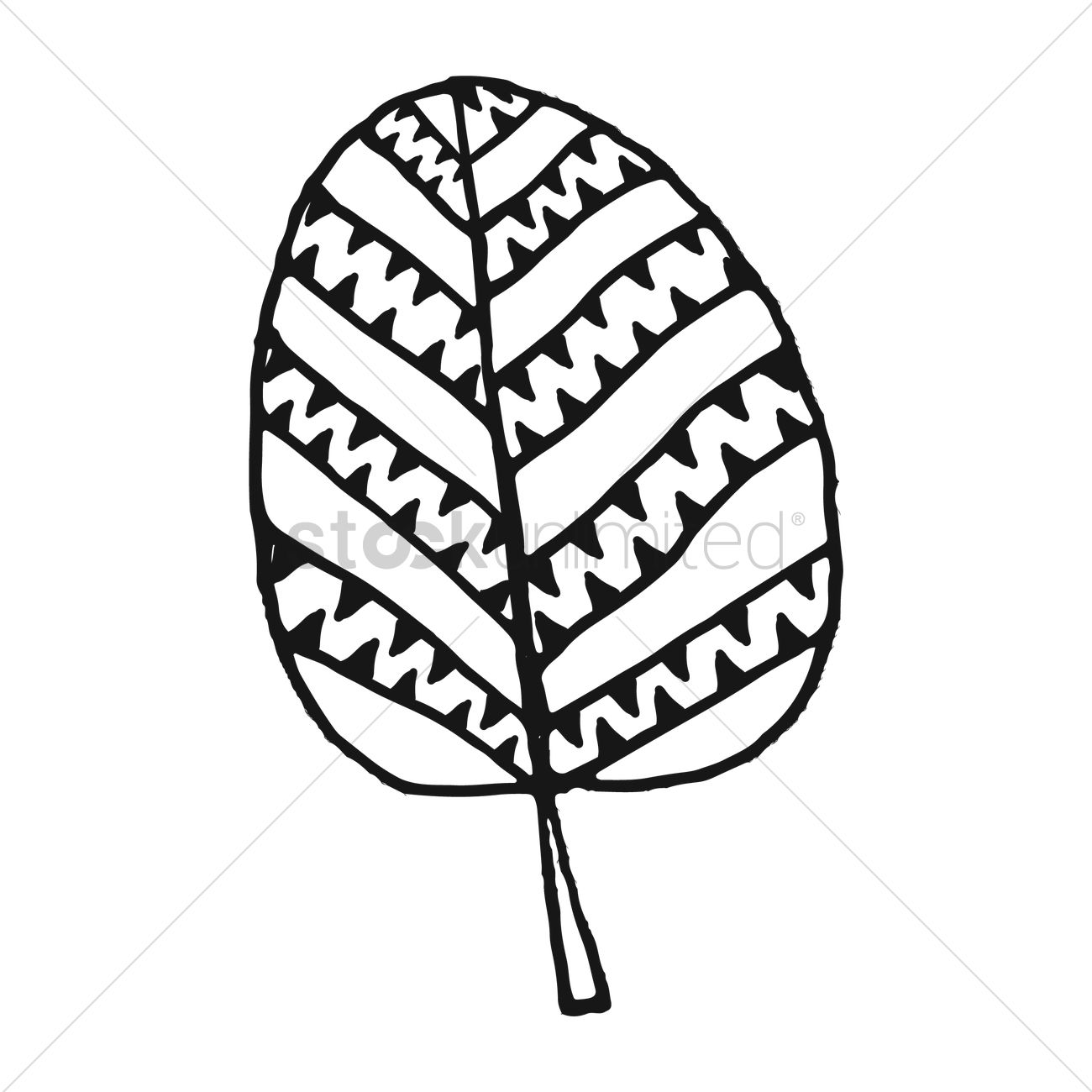 1300x1300 Simple Leaf Design Vector Image