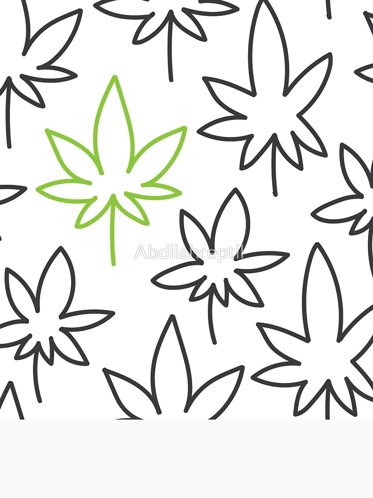 750x1000 Cannabis Leaf Seamless Pattern Doodle Drawing Vector T Shirt