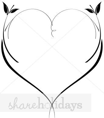 342x388 Leaf Vine Heart Valentine Heart Image