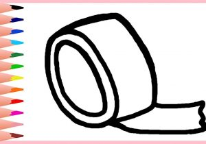 300x210 how to draw tape learn how to draw a roll of tape real easy