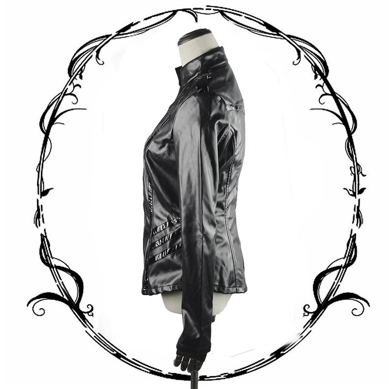800x800 dong pu coat thin with uniform long sleeved punk show thin han