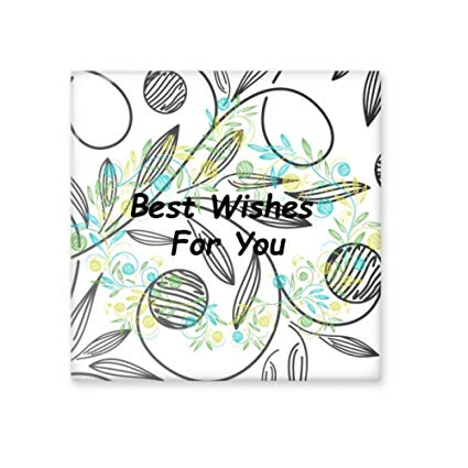 425x425 Fresh Flowers Leaves Drawing Best Wish Ceramic Bisque Tiles