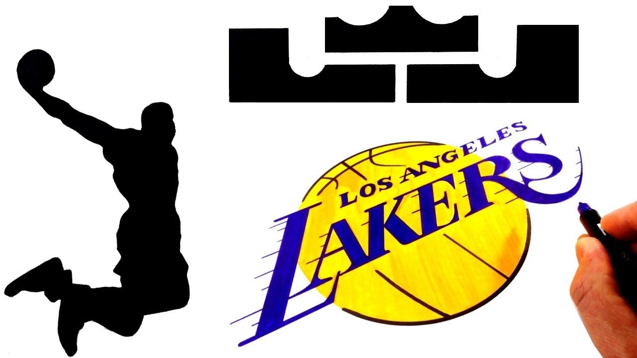 1280x720 How To Draw The Lebron James And L A Lakers Logos