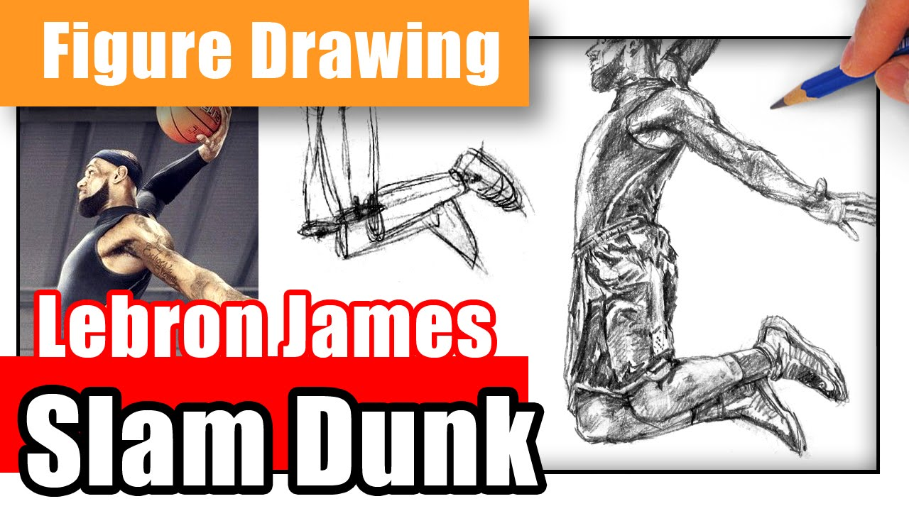 1280x720 how to draw lebron james dunking